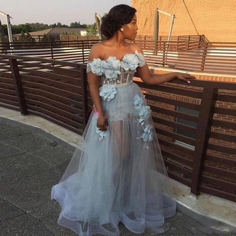 Off the shoulder long prom dress ,sexy prom dress,DR0410