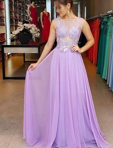 Sexy Chiffon A Line Prom Dress, Long Evening Party Dress,DR0477