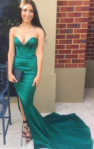 Mermaid green ball gown evening dress,DR0543