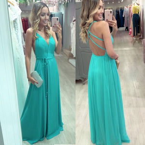 Criss Cross Split Side V Neck Long Prom Dresses Under 100,DR0715