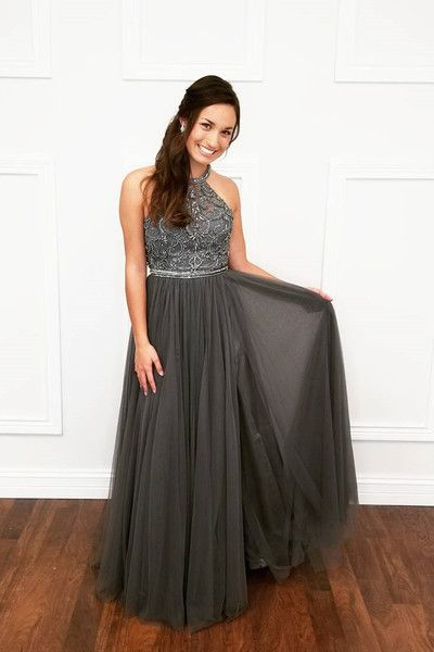Charming Prom Dress,Beading Evening Dresses,A-Line Prom Dresses,Halter Prom Gown,DR0729