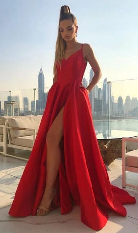 A-Line Simple Long Prom Dress ,School Dance Dresses ,Fashion Winter Formal Dress,DR1491