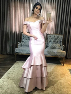 Elegant Off The Shoulder Mermaid Dresses, Evening Dress Prom Gowns, Formal Women Dress,Prom Dress,DR2359