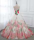 Ball Gown Flower Prom Dress, Sweetheart Cheap Evening Dress,DR2757