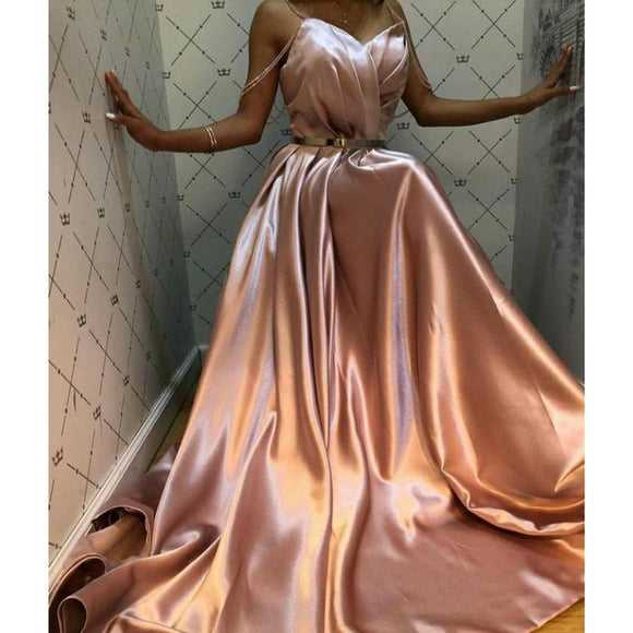 Champagne gold bridal ball dress, Champagne gold bridesmaids dress, Champagne gold prom dress,Champagne gold pageant long dress,DR4022