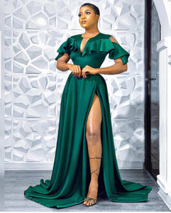 Green prom dress, wedding gown,bridal dress, long green engagement dress, African clothing for women,prom dress for women, reception dress,DR4449