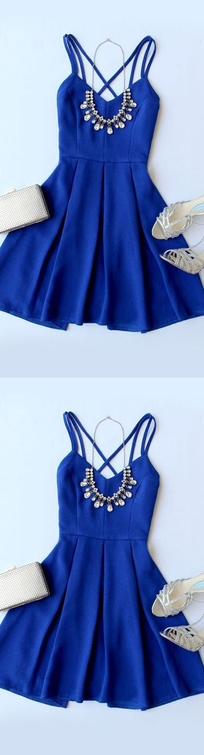 Simple Homecoming Dress,Cheap Homecoming Dresses,Royal BLue Homecoming Dresses,DR4668