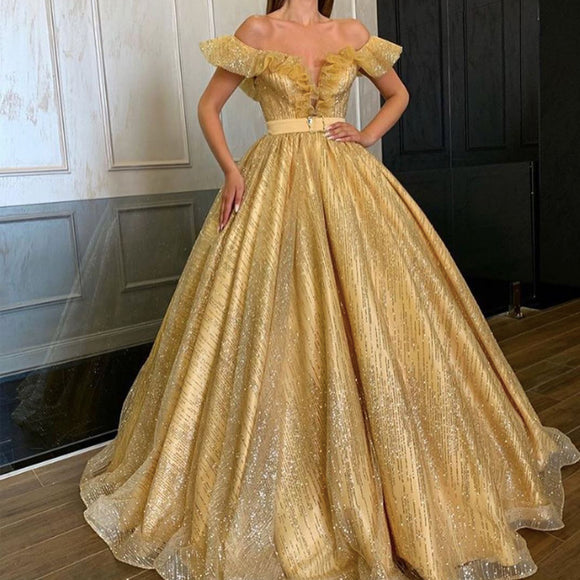 gold prom dresses, off the shoulder prom dresses, sparkly prom dresses, sequins prom dresses, sparkly evening dresses, sliver prom dresses, 2021 evening dresses, gold prom dress, 2021 formal dresses,DR5318