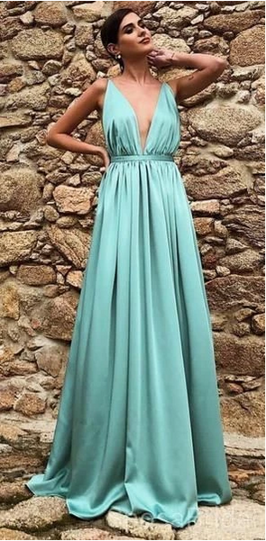 Charming Spaghetti Straps Long Simple Cheap prom dress,FLY718