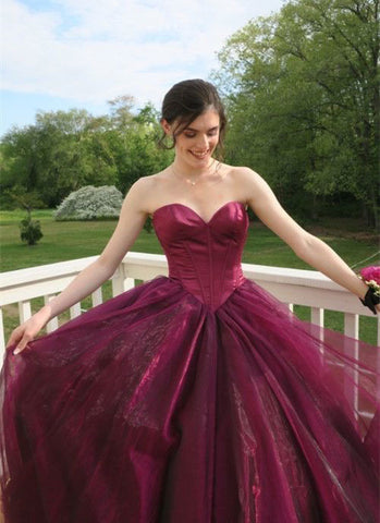 SWEETHEART MAROON PROM DRESSES EVENING DRESSES LONG,FLY902