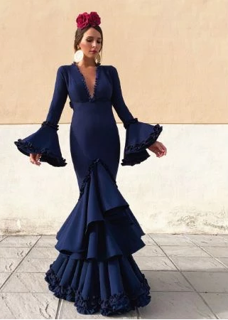 Deep V Neck Long Prom Dress , Charming Prom Dress,FLY968