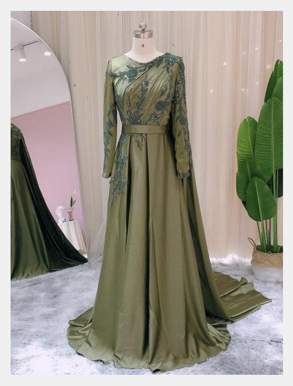 Custom made Prom Dress Long Sleeves Dubai Evening Dresses Muslim Women Wedding Party Gowns 2021 Elegant Modest Arabic Engagement,DR4002