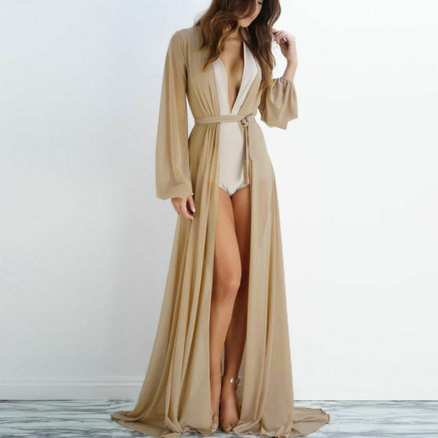 2020 Pareo Beach Cover Up Women Beach Dress Solid Bikini Cover Up Swimwear Women Robe De Plage Beach Wear Cardigan Bathing Suit