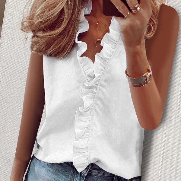 Ruffled V neck Long Sleeve Women Blouses Casual Letter Printed Blouse Women's Tops 2020 Spring Summer Plus Size Clothes Laides