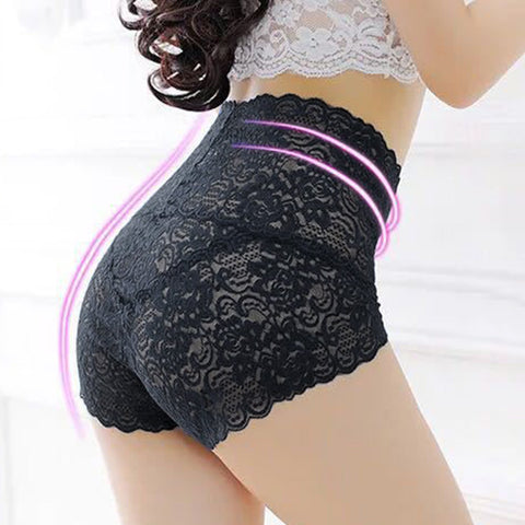 Dropshipping VIP High Waist Lace Panties Butt Lift Up Underwear Women Underpants Sexy Briefs Floral Panties Female Lingerie