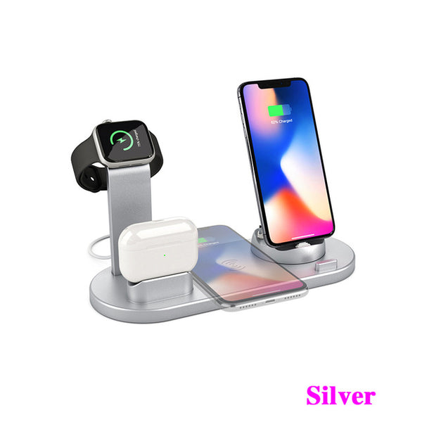 10W Qi Wireless Charger Dock Station 4 in 1 wireless charging wireless charger phone carregadores sem fio cargador inalambrico