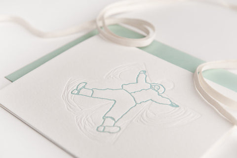 Snow Angel Letterpress Cards (Set of 6 cards)
