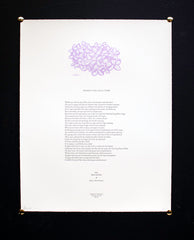Warble for Lilac-Time / letterpress Walt Whitman broadside