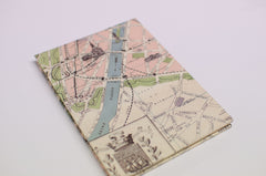 Paris Vintage Map Accordion Photo Album