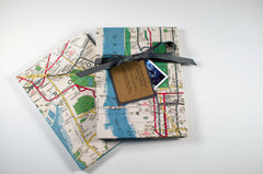 New York City Map Accordion Fold Photo Albums