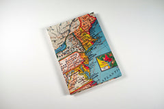East Coast Vintage Map Accordion Fold Photo Album