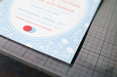 Vintage Lace Letterpress Wedding Invitation Samples