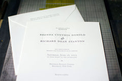 Entwined Letterpress Wedding Invitation Samples