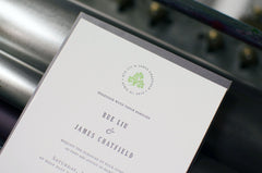 Signature Letterpress Wedding Invitation Samples
