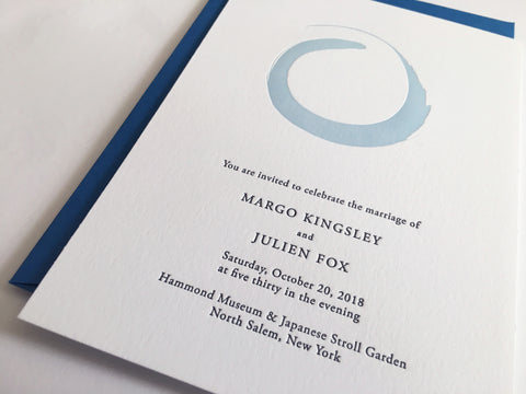 Ensō Letterpress Wedding Invitation Samples