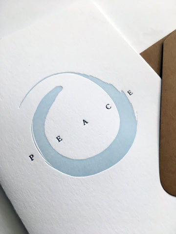 Peace Ensō Letterpress Cards