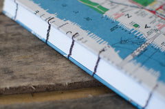 New York City Map Coptic Stitch Journal / 5x7 inches