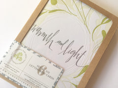 Warmth and Light Letterpress Cards (Box of 6)