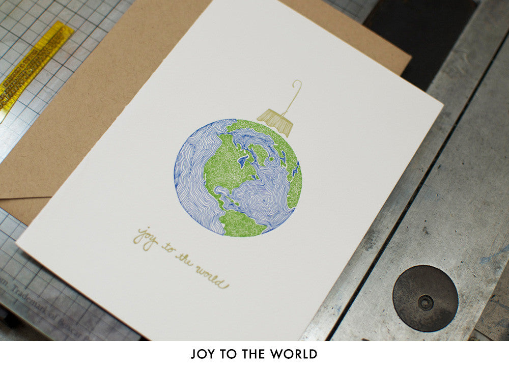 personalized letterpress holiday cards - Letterpress Holiday Cards