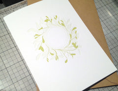 Mistletoe Wreath Letterpress Cards