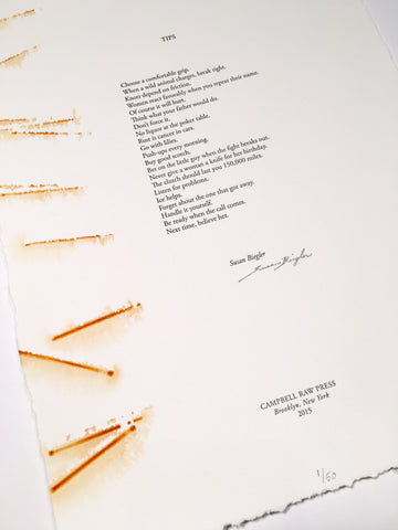 Letterpress Poetry Broadsides Portfolio