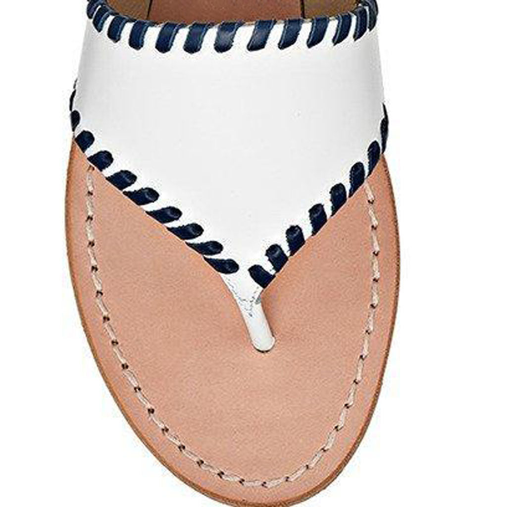JACKS CIRCLE MONOGRAM SANDAL - WHT/MDT/MDT