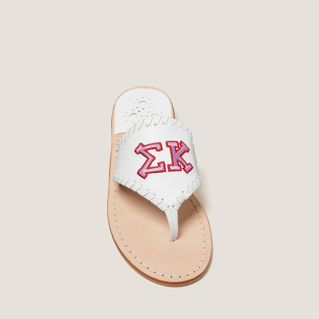 Sigma Kappa Embroidered Sandal-SANDALS-Jack Rogers USA