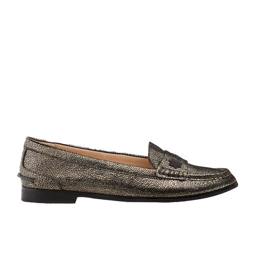 Remy Cracked Metallic Loafer