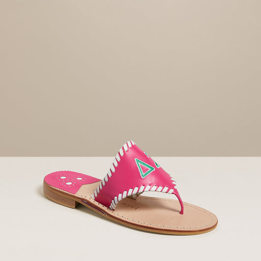 Delta Zeta Embroidered Sandal-SANDALS-Jack Rogers USA