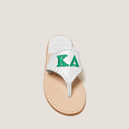 Kappa Delta Embroidered Sandal-SANDALS-Jack Rogers USA