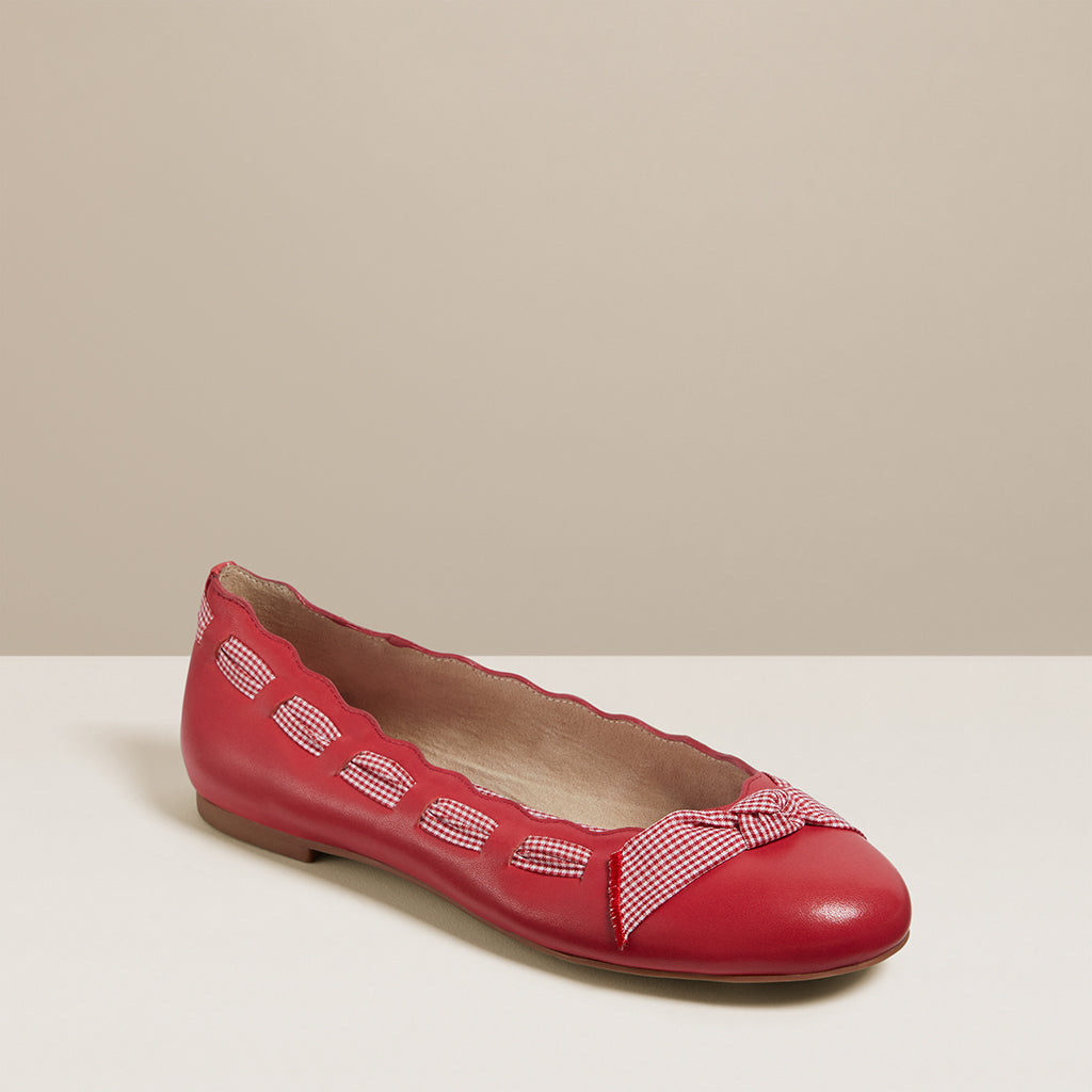 Lucie Gingham Bow Flat-FLATS-Jack Rogers USA