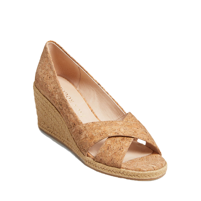 Palmer Criss Cross Cork Espadrille Wedge