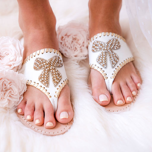 Embellished Bow Sandal