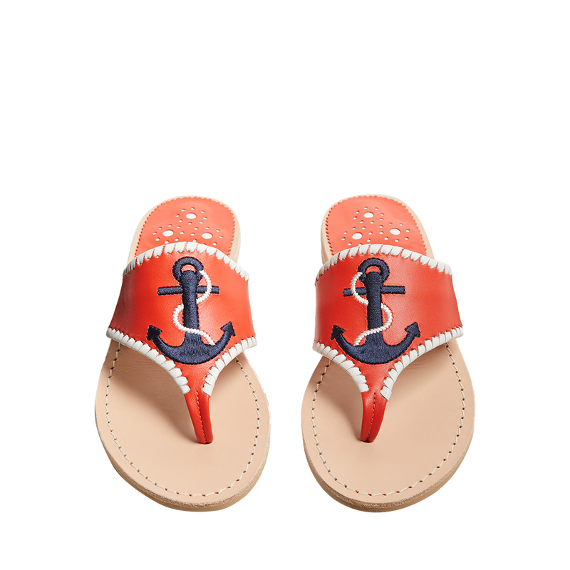 Embroidered Anchor Sandal