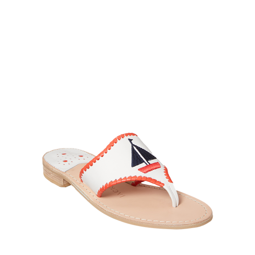 Embroidered Sailboat Sandal