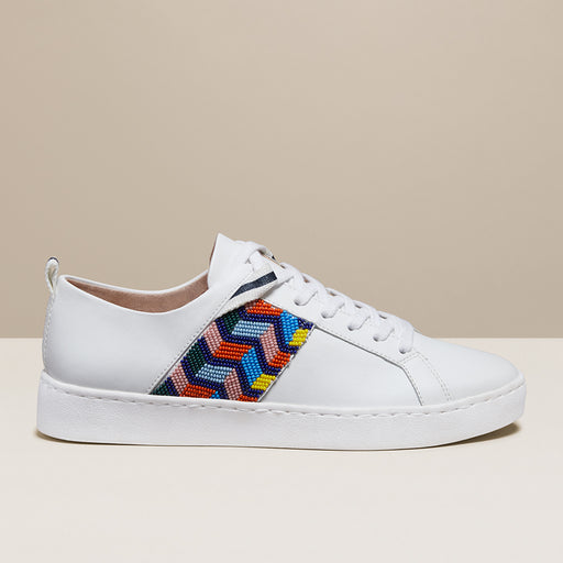 Ainsley Chevron Beaded Sneaker