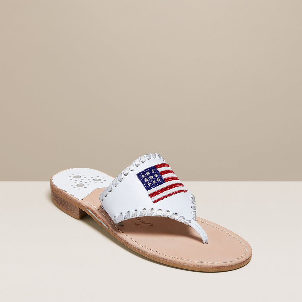 Beaded Flag Sandal