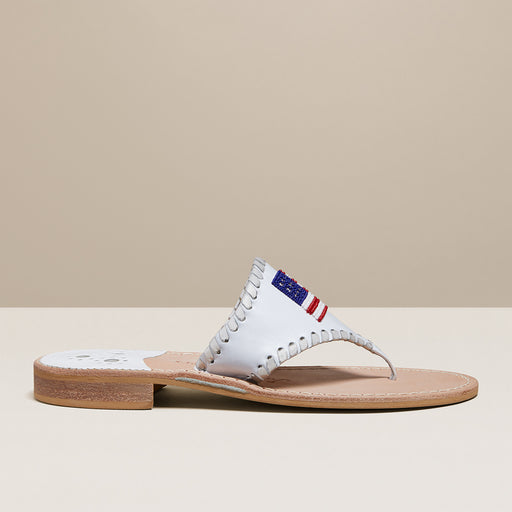 Beaded Flag Sandal-Jack Rogers USA