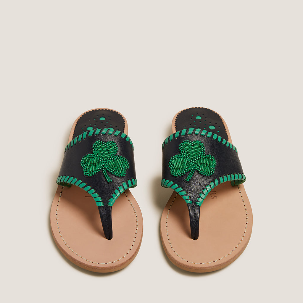 Beaded Shamrock Sandal