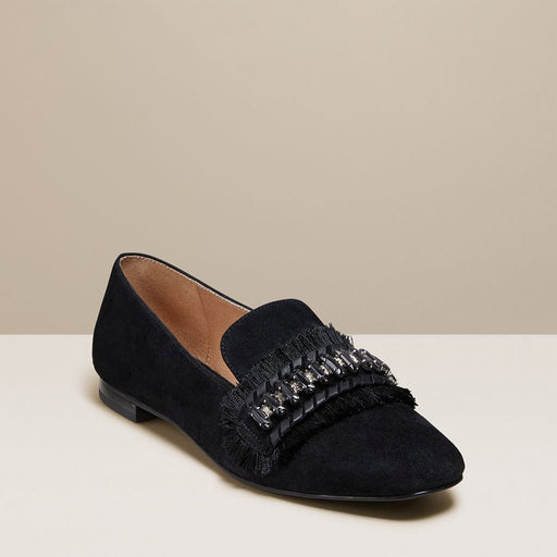 Beatrix Jeweled Suede Loafer